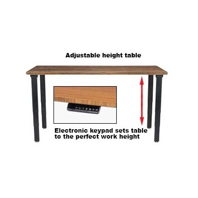 Height Adjustable Training Table with Cable Management Size: 25 - 52 H x 60 W x 30 D