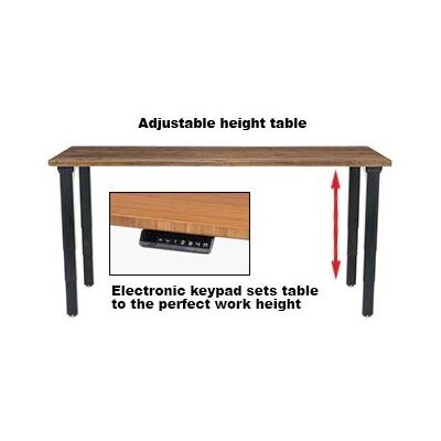 Height Adjustable Training Table with Cable Management Size: 25 - 52 H x 72 W x 30 D