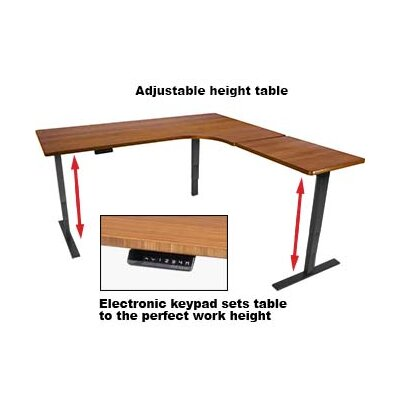 60 W Height Adjustable Training Table with Cable Management