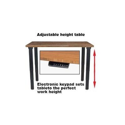 Height Adjustable Training Table with Cable Management Size: 25 - 52 H x 48 W x 30 D