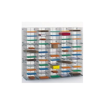 60 Pocket Wire Sorter Size: 48.38 H x 60 W x 15 D
