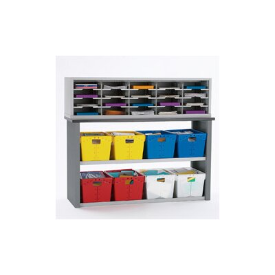 22 Compartment Mailroom Organizer