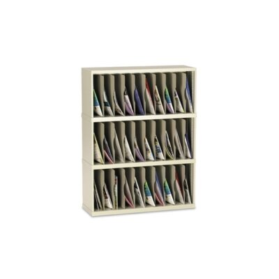 30 Vertical Pocket Sorter Size: 47.13 H x 36 W x 12.75 D, Color: Putty