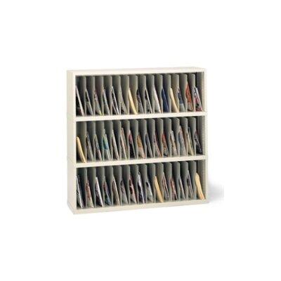 45 Vertical Pocket Sorter Size: 47.13 H x 48 W x 12.75 D, Color: Putty