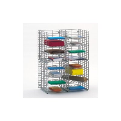 16 Pocket Wall Hung Wire Sorter Size: 32.25 H x 24 W x 15 D
