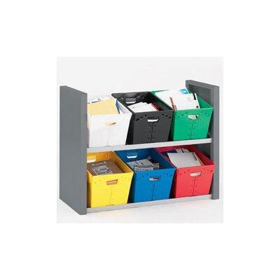 2 Shelves Tote Sorter Size: 34 H x 44.75 W x 18.75 D