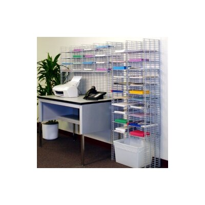 38 Pocket Desk Top Mail System Wire Shelves Size: 11.13 W x 12 D