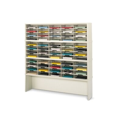 60 Pocket Mail Sorter with Closed Riser Color: Putty