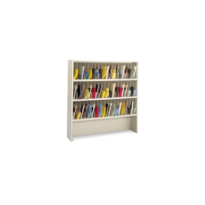 57 Pocket Mail Sorter with Closed Riser Color: Grey