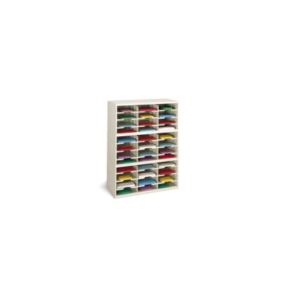 36 Pocket Mail Sorter Size: 47.13 H x 36 W x 12.75 D, Color: Putty