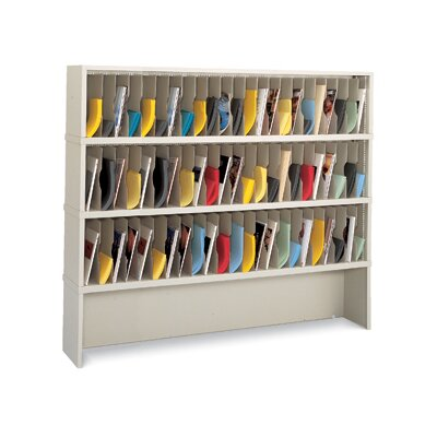 69 Pocket Vertical Mail Sorter and Closed Riser Color: Putty
