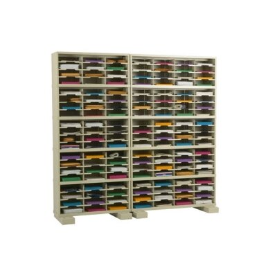 140 Pocket Mail Sorter with Caster Base Color: Putty