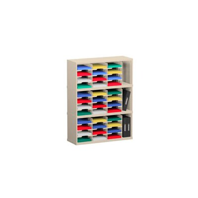 39 Pocket Mail Sorter Color: Putty, Size: 47.13 H x 36 W x 12.75 D