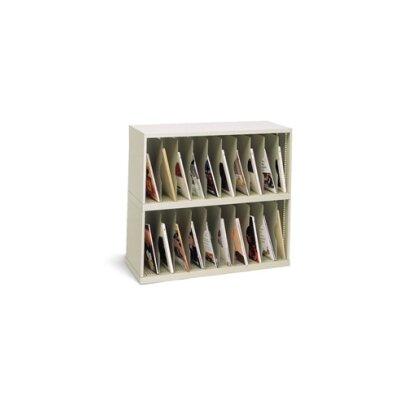 20 Pocket Vertical Mail Sorter Color: Grey, Size: 31.75 H x 36 W x 15.75 D