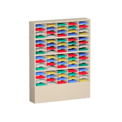 80 Pocket Mail Sorter on Caster Base Color: Grey