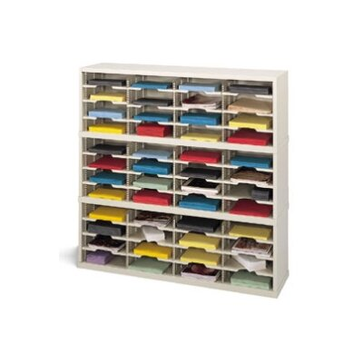 48 Pocket Mail Sorter Size: 47.13 H x 48 W x 12.75 D, Color: Putty