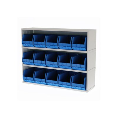 Mail Sorter with 15 Removable Plastic Bins Color: Putty