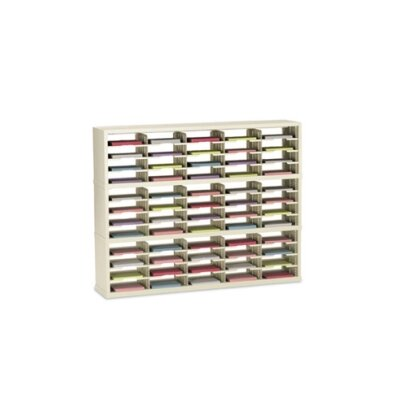 60 Pocket Open-Back Triple Sorter with Letter Depth Color: Grey