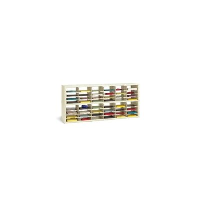 48 Pocket Open-Back Double Sorter with Legal Depth Color: Putty