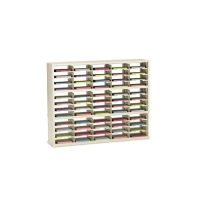 60 Pocket Open-Back Triple Sorter with Legal Depth Color: Putty