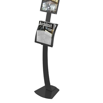 Contemporary Sign Stand Magazine Holder Add-On Pocket 693404/1