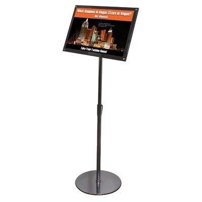 Telescoping Sign Display Floor Stand