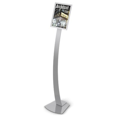 Contemporary Floor Sign Stand Finish: Silver