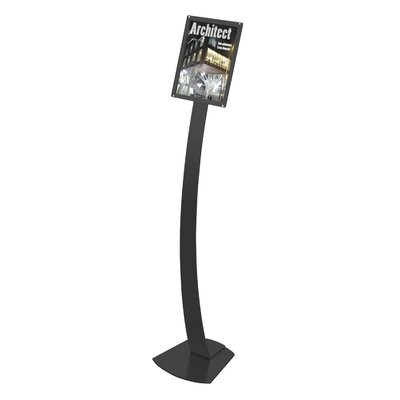 Contemporary Floor Sign Stand Finish: Black