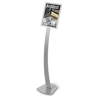 Oversize Contemporary Floor Sign Stand Color: Silver