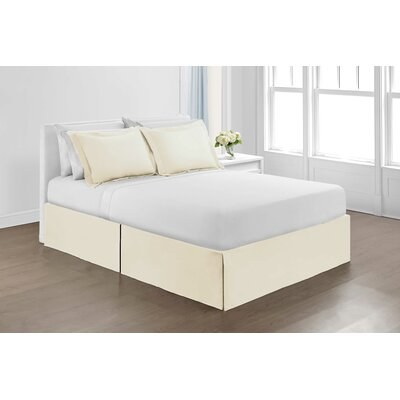 Hawthorne Bed Skirt Size: Queen, Color: Ivory