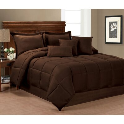 Inovatex,LLC 7 Piece Comforter Set - Size: Full / Queen Color: Chocolate