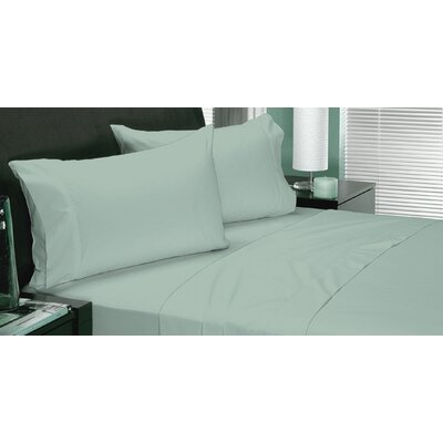180 Thread Count Coolest Comfort Sheet Set Color: Aqua, Size: Twin