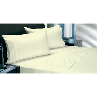 180 Thread Count Coolest Comfort Sheet Set Color: Cream, Size: Twin