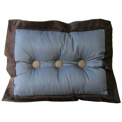 Annabella Button Tufted Lumbar Pillow Color: Mineral Blue/Chocolate/Taupe