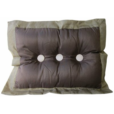 Spafford Button Tufted Lumbar Pillow Color: Chocolate/Sage/Pearl