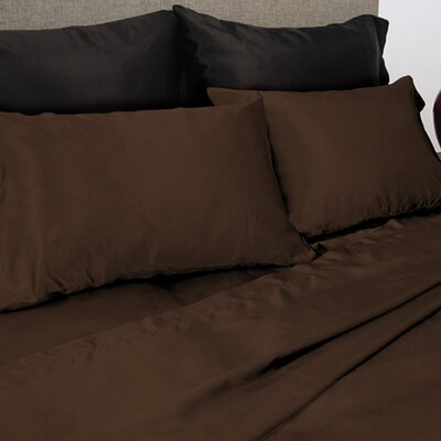 Luxury Satin Sheet Set Color: Chocolate, Size: Queen
