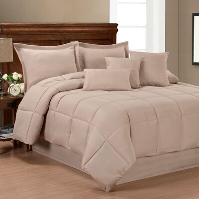 Comforter Set Size: King, Color: Taupe