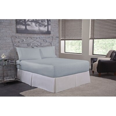 Solid 300 Thread Count Deep-Pocket Sheet Set Size: Twin, Color: Light Blue