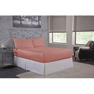 Solid 300 Thread Count Deep-Pocket Sheet Set Size: Full, Color: Mauve