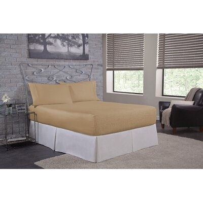 Solid 300 Thread Count Deep-Pocket Sheet Set Size: Twin, Color: Taupe