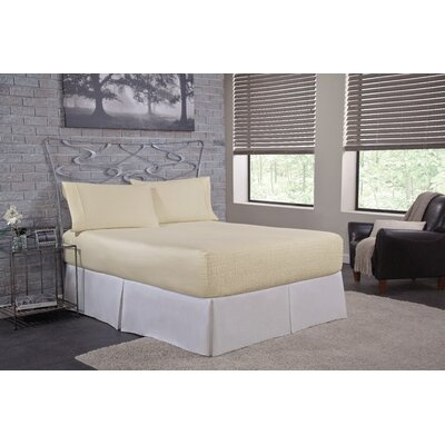Solid 300 Thread Count Deep-Pocket Sheet Set Size: Twin, Color: Ivory
