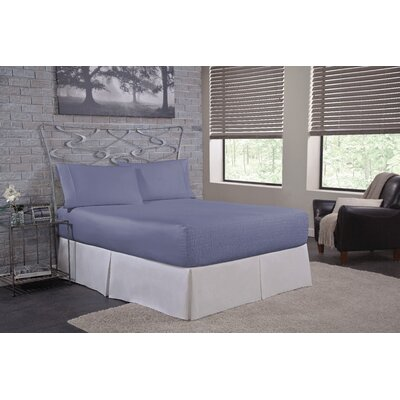 Solid 500 Thread Count Deep Pocket Sheet Set Size: Full, Color: Blue