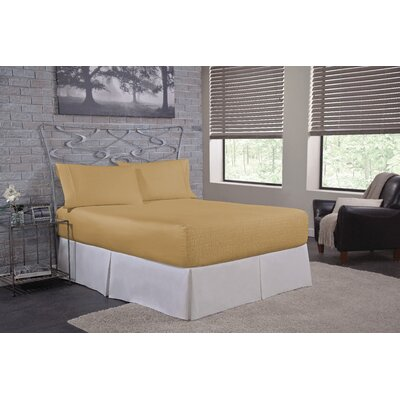 Solid 500 Thread Count Deep Pocket Sheet Set Size: Full, Color: Gold