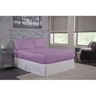 Solid 500 Thread Count Deep Pocket Sheet Set Size: Queen, Color: Lilac