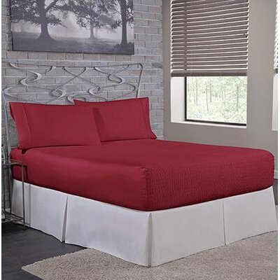 Carrick Sheet Set Size: Queen, Color: Burgundy