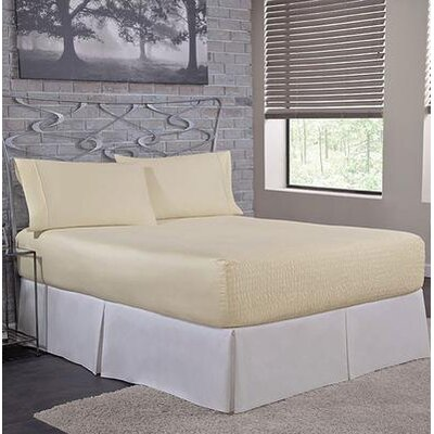 Carrick Sheet Set Size: King, Color: Ivory