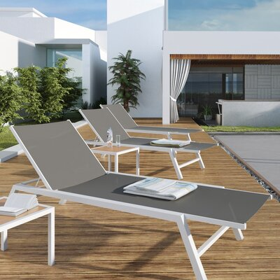 Outdoor Chaise Lounge OUT-SEVI-GY-DECK