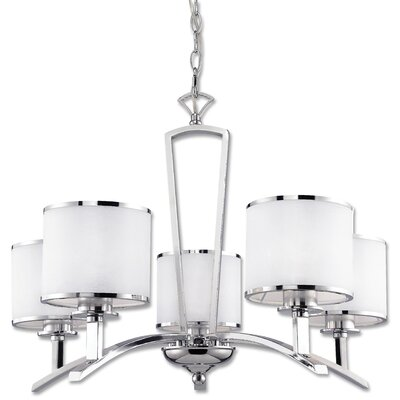 Schade 5-Light Shaded Chandelier