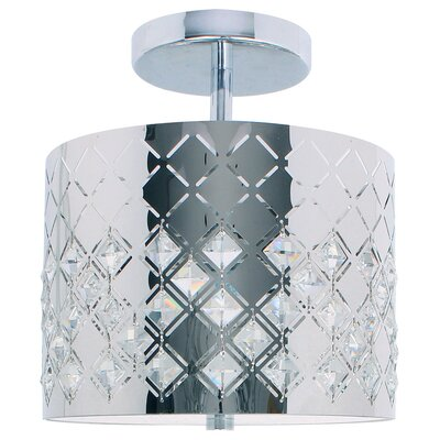 Marsala 1-Light Semi-Flush Mount