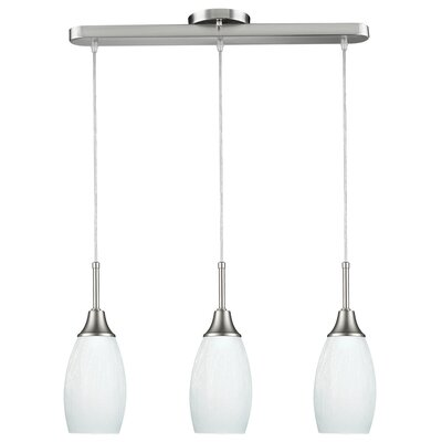 Centralia 3-Light Contemporary Kitchen Island Pendant